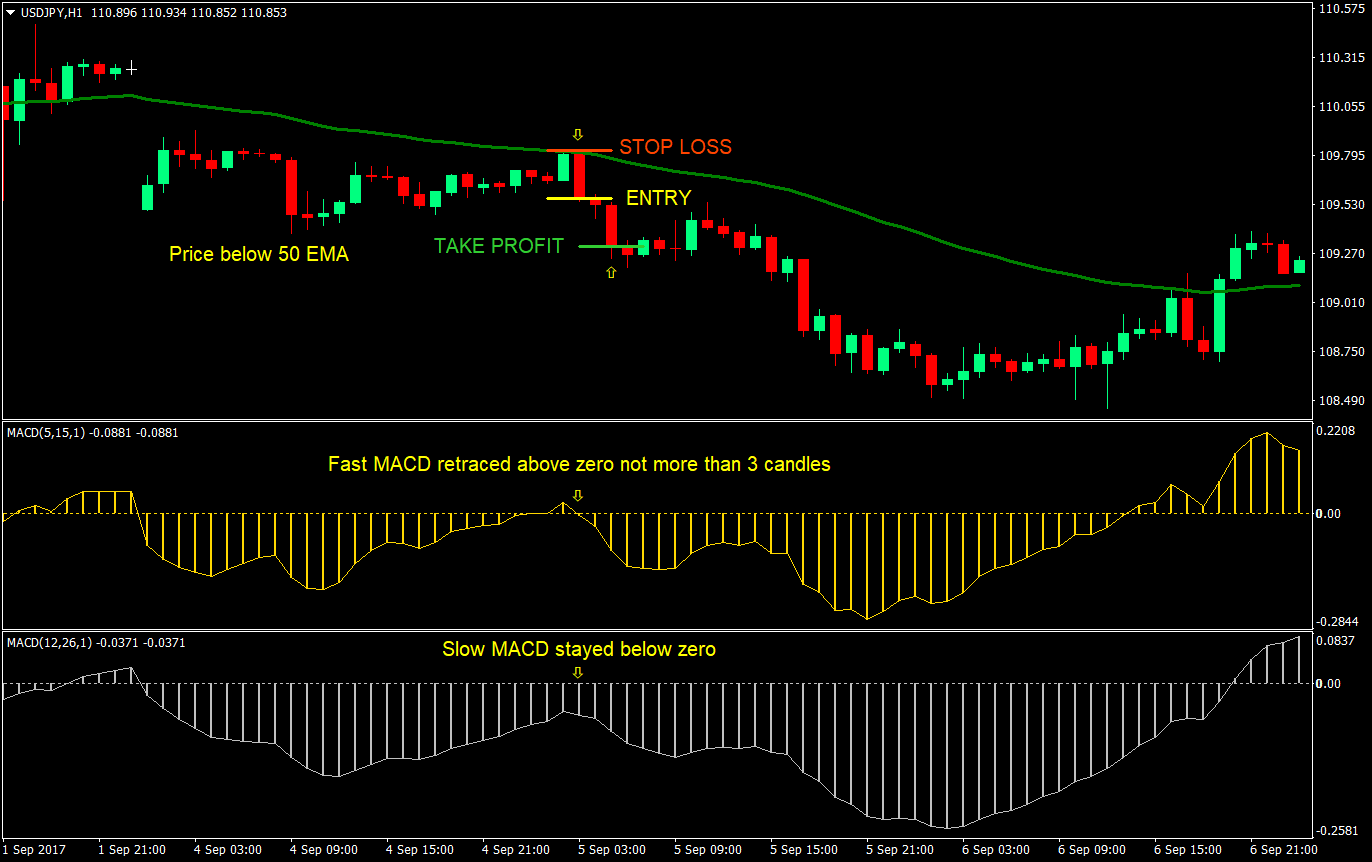 Dual MACD Re-Entry Forex Trading Strategy | Forex MT4 Indicators