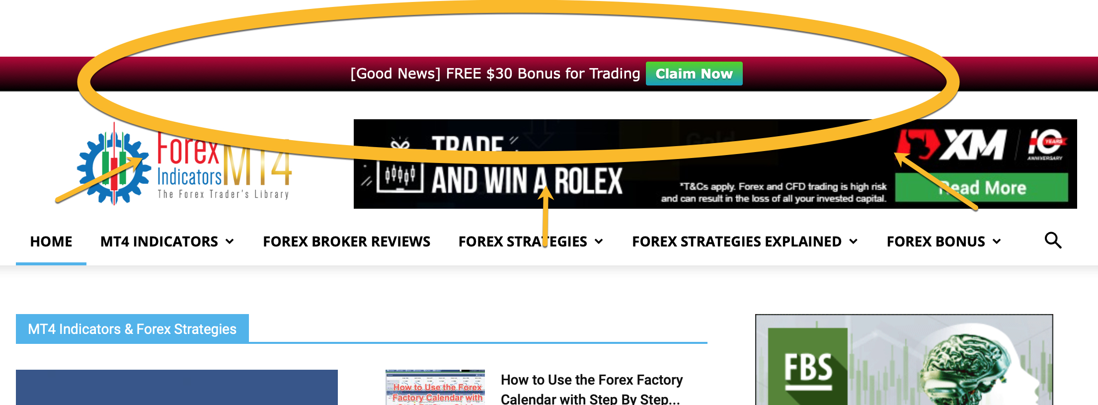 Forex Notification Bar Ads
