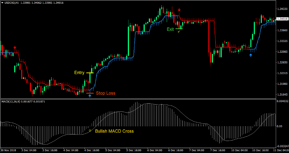MACD Half Trend Forex Trading Strategy 1