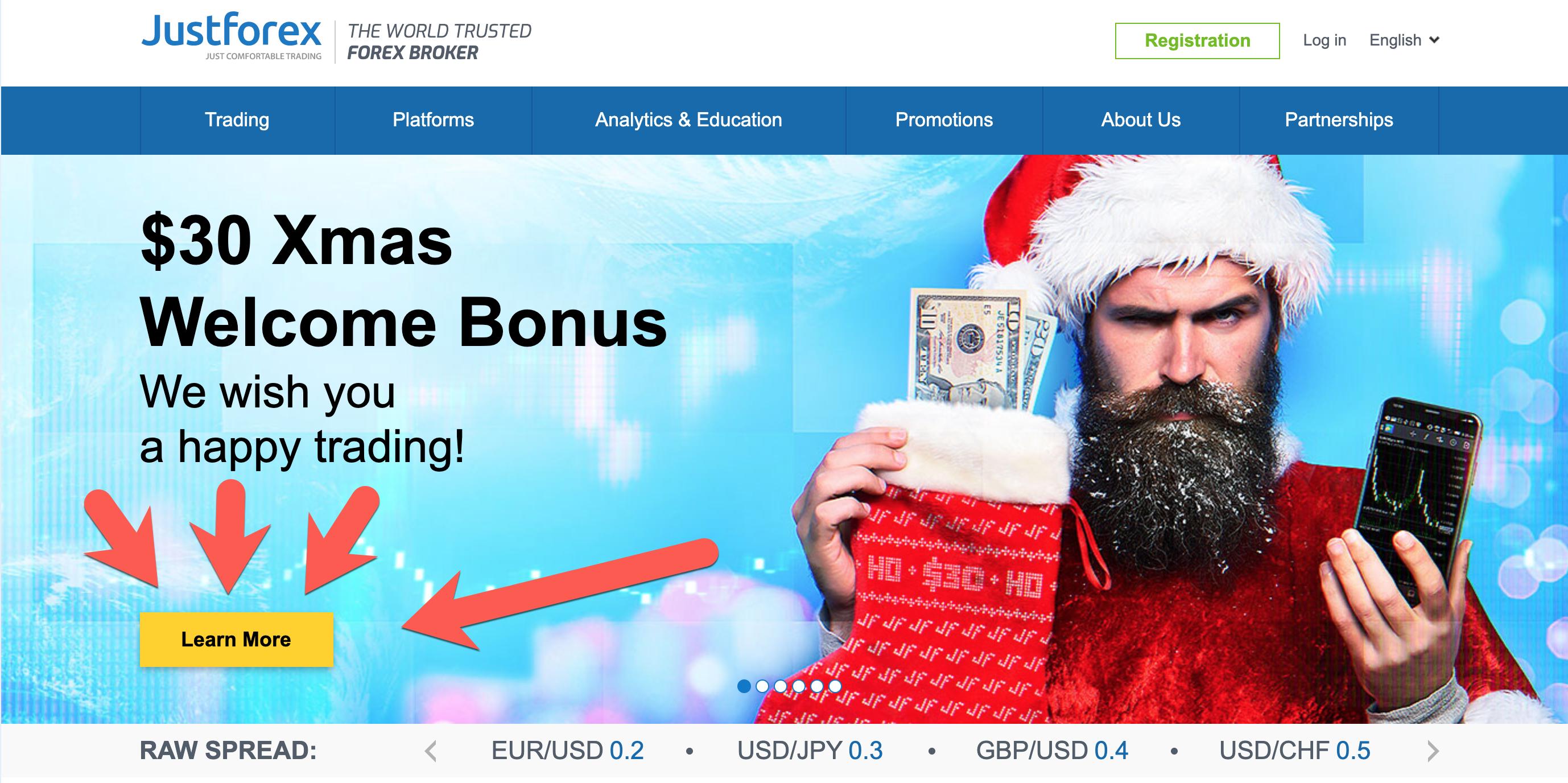 JustForex Bonus